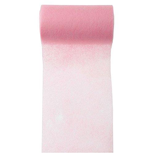 """Servietten-/Tischband \""""Vlies\"""", rosa, 10 m - Elegantes Tischband in Rosa aus Vlies zur Dekoration"""