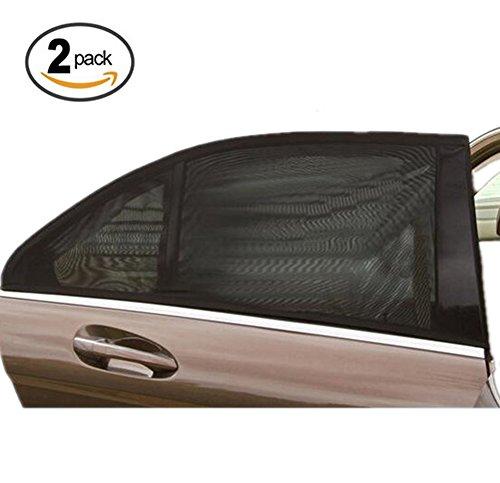 Preisvergleich Produktbild Auto Seitenfenster Sonnenschutz MOMONY Universal Sonnenblende bietet maximalen UV-Schutz für Baby und Haustiere usw, schützt ihre Kinder vor Sonnenbrand, 2 Stück, schwarz