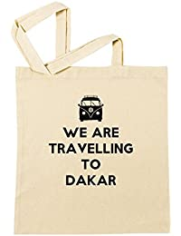 We Are Travelling To Dakar Bolsa De Compras Playa De Algodón Reutilizable Shopping Bag Beach Reusable