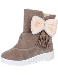 Botas de nieve para mujer de moda para mujer Botas de mujer para arco para mujer Zapatos casuales para mujer por ESAILQ