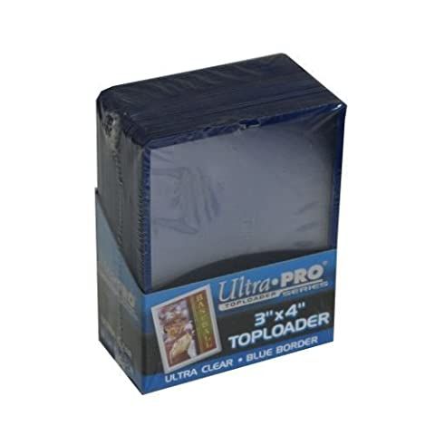 Ultra Pro 3 x 4 Topload Blue Border Card Holder (25) by Ultra Pro