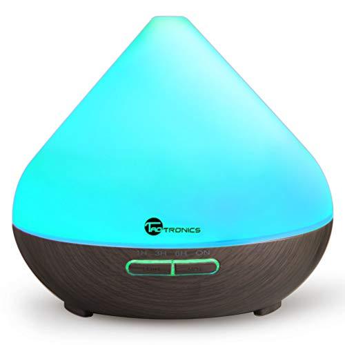 TaoTronics Aroma Diffuser 300ml Luftbefeuchter Düfte Humidifier mit patentiertem Ölflusssystem 7 Farben für Yoga Salon Spa Wohn-, Schlaf-, Bade- oder Kinderzimmer Hotel