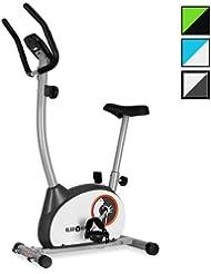 Klarfit MOBI Basic 10 Vélo d'appartement cardio training - Vélo spinning fitness avec ergomètre et pulsomètre intégrés (ordinateur de bord, <100kg, certifié norme allemande)