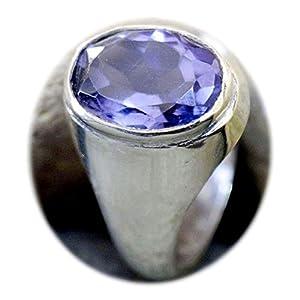 4,5ct natürlicher Amethyst Edelstein handgefertigt 92,5% Sterling Remasuri Bold Ring für Herren