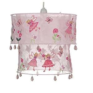 lampe lampenschirm f r deckenleuchte kinderzimmer fee perlen rosa k che haushalt. Black Bedroom Furniture Sets. Home Design Ideas