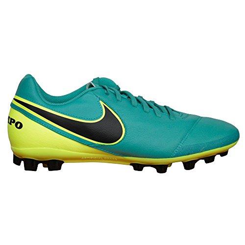 Nike Tiempo Genio II Leather AG Herren Fußballschuhe 307 CLEAR JADE/BLACK-VOLT