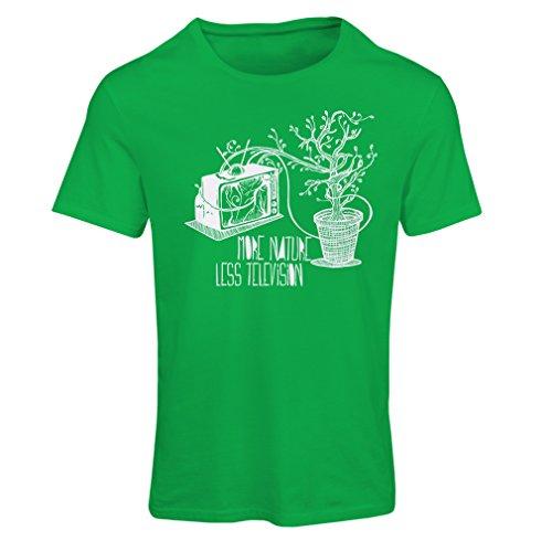 Koch Fitted T-shirt (Frauen T-Shirt Mehr Natur (Large Grün Mehrfarben))