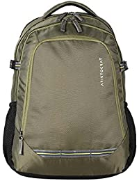 Aristocrat Gusto Fabric 30 Ltrs Green Laptop Backpack (LPBPGUS2GRN)