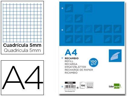 Liderpapel 72246 - Pack de 100 hojas de recambio