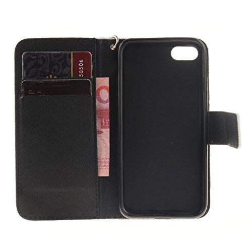 """iPhone 7 Coque, MYTHOLLOGY PU Cuir Case à rabat Folio EtuI Housse pour Apple iPhone 7 (4.7"""") avec Support Magnétique Portefeuille Dragonne Case - BBH HFL"""