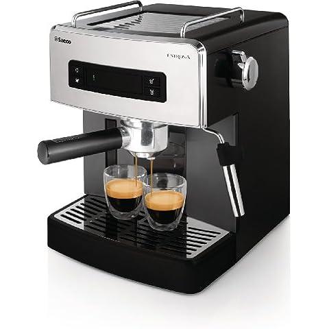 Saeco Estrosa HD8525/01 - Máquina de café espresso manual para café molido y monodosis E.S.E., color negro