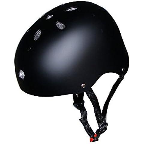 Nuovo Nero-Casco da bicicletta, luce Urltra/monopattino/BMX-Casco da skateboard, per