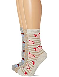 Miss Outrage Women's 3Pk O Cotton Cupcakes Casual Socks