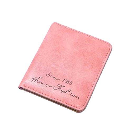 QHGstore Nette Mädchen-Karten-Mappen-Beutel-Kunstleder-Abdeckungs-Fall Wassermelonenrot