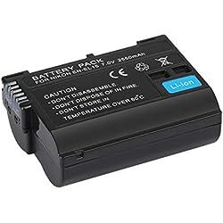 EN-EL15 7V 2550MAH Paquet de batterie de remplacement de batterie Li-ion rechargeable sûre et fiable pour Nikon D7000 D800 D800E