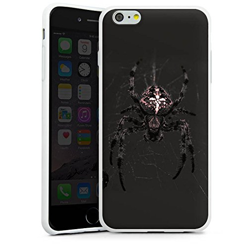 Apple iPhone X Silikon Hülle Case Schutzhülle Araneus Spinne Spider Silikon Case weiß