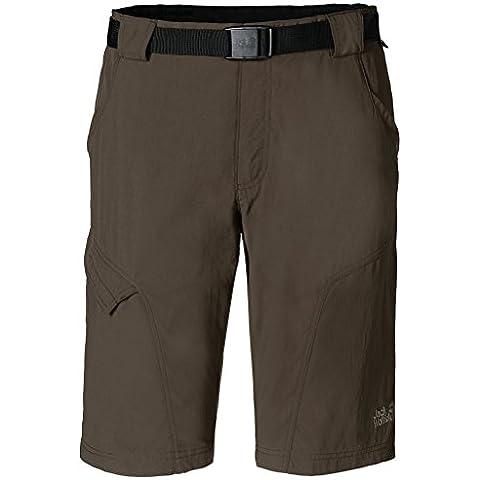 Jack Wolfskin–Pantaloni corti da uomo Hoggar, Uomo, Shorts Hoggar, verde oliva/marrone, 50 - 50 Verde Oliva