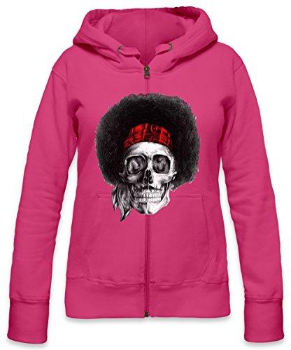 Legendary USA Artist Skull Womens Zipper Hoodie X-Large -