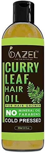 Dazel - The Skin Pulse® Curry Leaf Hair Oil With Comb Applicator | 100% Pure Natural Cold pressed Oil For Hair