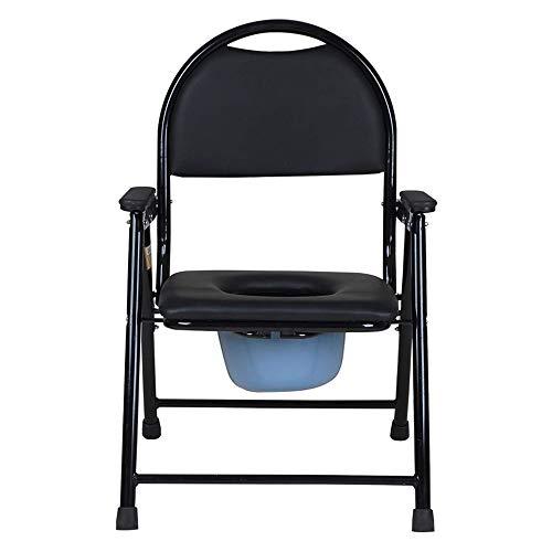 MJLXY Faltbarer Toilettenstuhl, Klappbarer Rostfreier Stahl Antirutschenden WC-Stuhl Laden Bis 150 Kg,Geeignet Für Ältere Menschen, Schwangere, Behinderte
