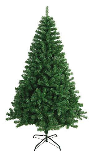 Árbol de Navidad Artificial Extra Relleno Abeto Artificial C/Soporte Metálico 180-240cm (Verde, 240cm 1438Tips)