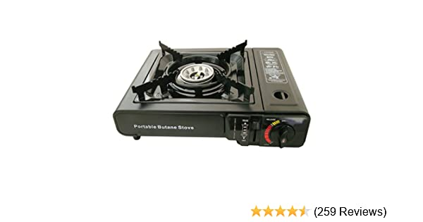 74acff97f31 Portable Camping Gas Cooker Stove + 2 Free Gas Cartridges Refills   Amazon.co.uk  Sports   Outdoors