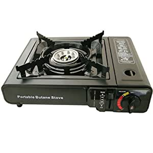 portable camping gas cooker stove 2 free gas cartridges. Black Bedroom Furniture Sets. Home Design Ideas