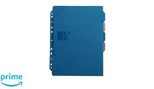 Elba Business Pochette perfor/ée en polypropyl/ène opaque avec intercalaires A4 XL Bleu//noir