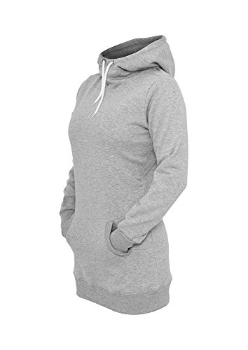 TB391 Ladies Long Sweat Hoody Sweatshirt Kapuze Damen Grey