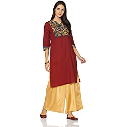 Myx Women's Cotton Straight Kurta