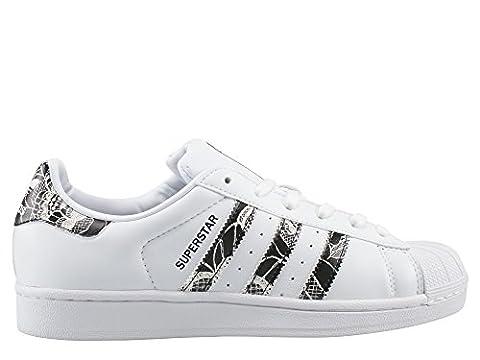 adidas Damen Superstar W Sneaker, Weiß (Ftwwht/Cblack/Spray), 39 1/3 EU