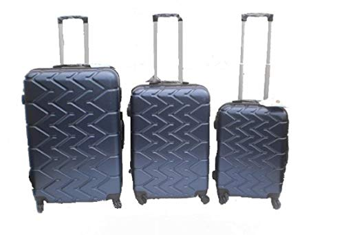 Orlac Tyre Set 3 Trolley valigie rigide in ABS e policarbonato 4 ruote piroettanti colori vari (BLU SCURO)