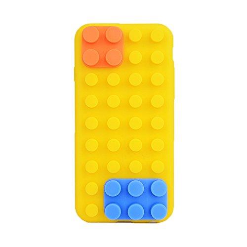 Phone case & Hülle Für IPhone 6 Plus / 6S Plus, Baustein Textur Silikon Tasche ( Color : Beige ) Yellow