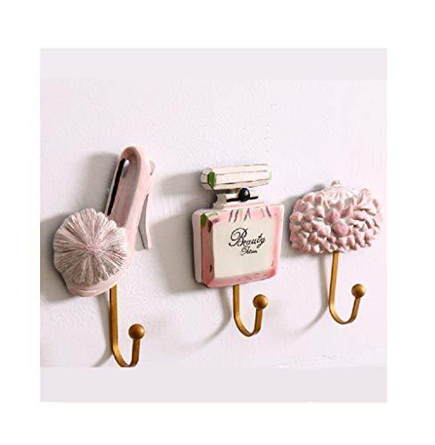 Yesot Kleiderhaken aus Kunstharz, für Damen, Schuhe, Parfüm, Flasche, Hut, gemustert, Wandmontage, Badezimmerregal, Garderobe, Tasche, Haken, Aufbewahrung, Küchenutensilien, Schlüsselhaken
