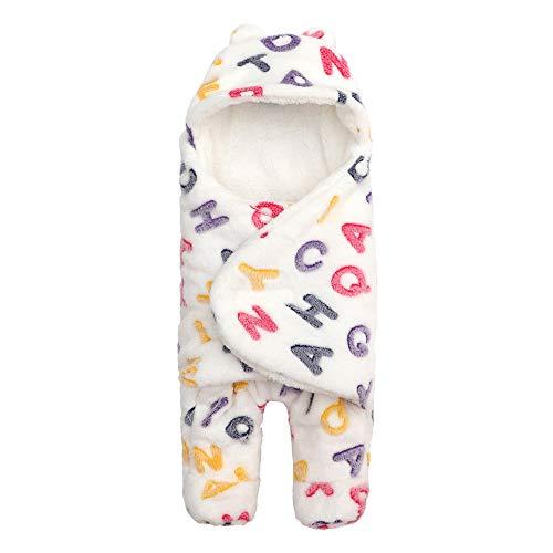 BOZEVON Sac de Couchage pour Bébé - Sacs de Couchage en Velours pour Bébé Anti-Coups Plus Hiver 0~6 Mois