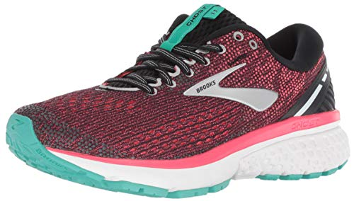 Brooks Ghost 11, Scarpe da Running Donna, Multicolore (Black/Pink/Aqua 017), 38 EU