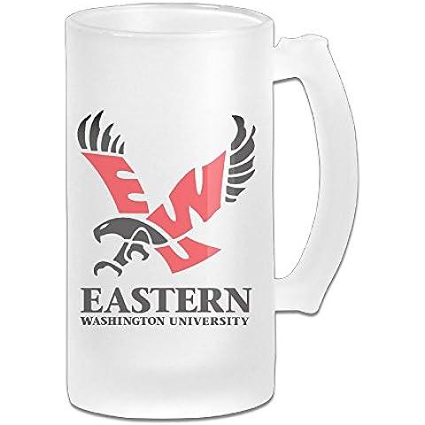 j3g9Acero Inoxidable Aislado al Vacío Taza de cerveza fiesta Eastern Washington University & & 30605421térmico Vaso de viaje color blanco
