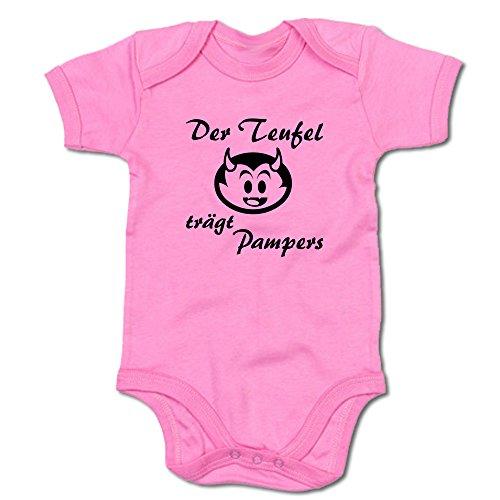 Der Teufel trägt Pampers Baby-Body (250.0039) (12-18 Monate, pink)