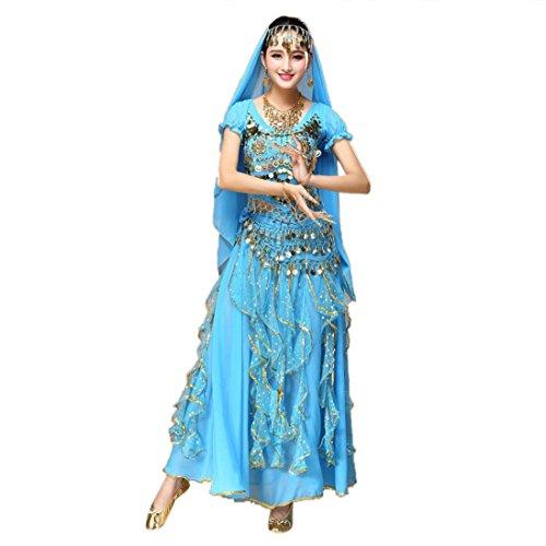Dragon Frauen Belly Dance Outfit Kostüm Indien Dance Kleidung Top + Rock (De Kostüm Indienne)