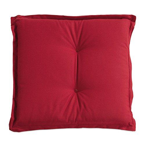 Stuhlkissen Sitzkissen Sitzpolster Gartenstuhlauflage CAB 2 | 50x50 cm | Rot | Baumwolle | Polyester