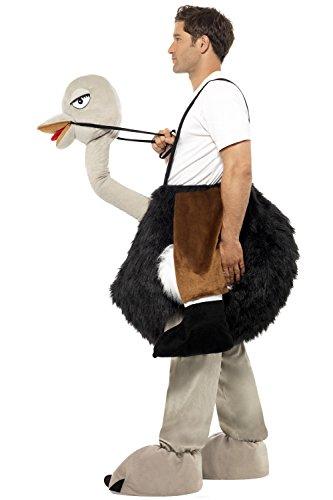 Imagen de disfraz peluche de avestruz con fausses piernas talla única alternativa