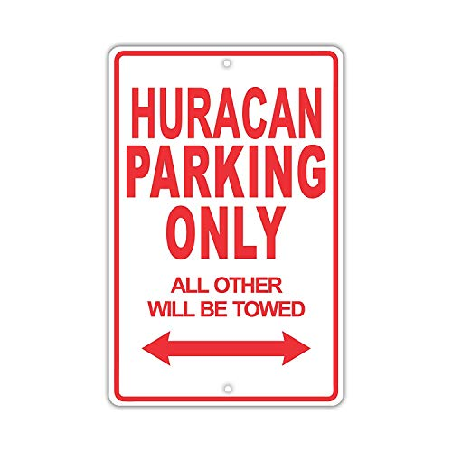 Eugene49Mor Lamborghini Huracan Parking Only All Others Will Be Trow Ridiculous Funny Novelty Garage - Placa de Aluminio de 20,32 x 30,48 cm
