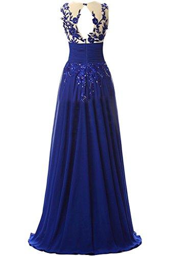 ivyd ressing robe haute qualité Motif ligne A mousseline dentelle mousseline Party Prom robe Lave-vaisselle robe robe du soir bleu roi