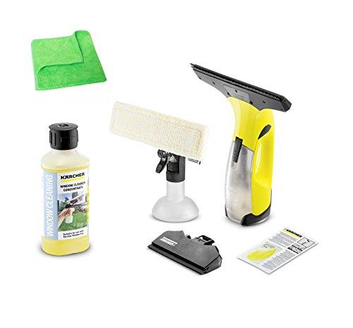 KÄRCHER original WV 2 Premium 1.633-430.0 inkl. gelbem Fensterreiniger 500 ml 6.295-840.0 & Microfasertuch