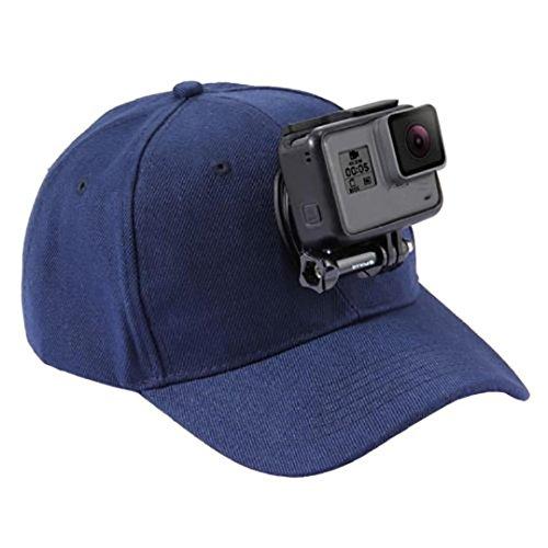 HCFKJ Baseball Cap für GoPro Action Kameras Halter Hut mit J-Haken Buckle Mount Schraube Beinhaltet Nicht Die Kamera (B) (Columbia-angeln-weste)
