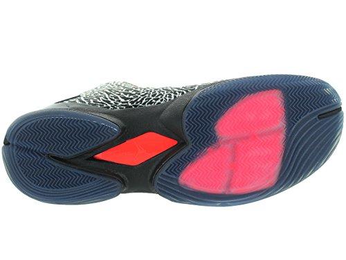 Nike Super.fly 4 Jcrd Gym Rd / blck / lt Crmsn / infrrf 23 chaussure de basket 8-nous Blanc / rouge / noir (blanc / rouge gymnase - noir - infrarouge 23)