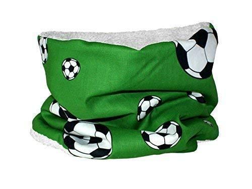 Kleine Könige Enfants Loop Football Vert Rund-Schal pour Enfants - blanc, verschiedene
