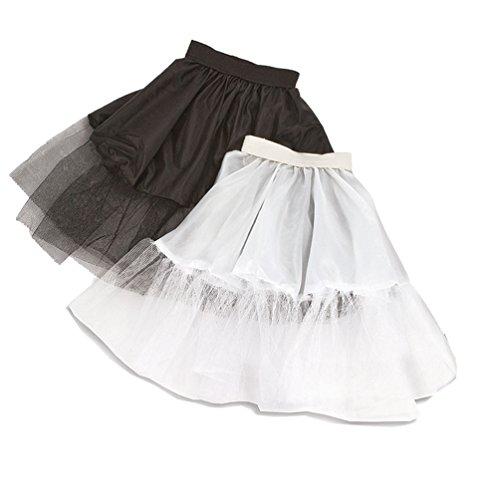 Petticoat Kostüm Mädchen - Karneval-Klamotten Petticoat Unterrock Tutu Tüll-Rock Kinder kurz schwarz Mädchen-Kostüm Karneval Einheitsgröße