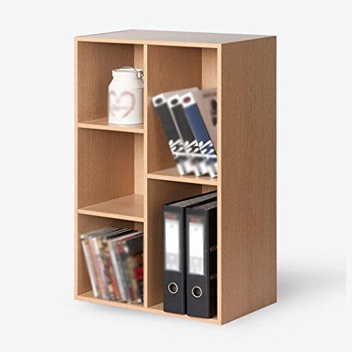 FJXLZ® Bücherregal Buchständer Bücherregal Woody Five Grid Drei Schichten Ahorn Farbe Faltbar und einstellbar ( größe : 50*23.8*80 cm ) -