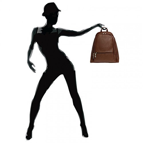 CASPAR Fashion, Borsa a zainetto donna (castagna)